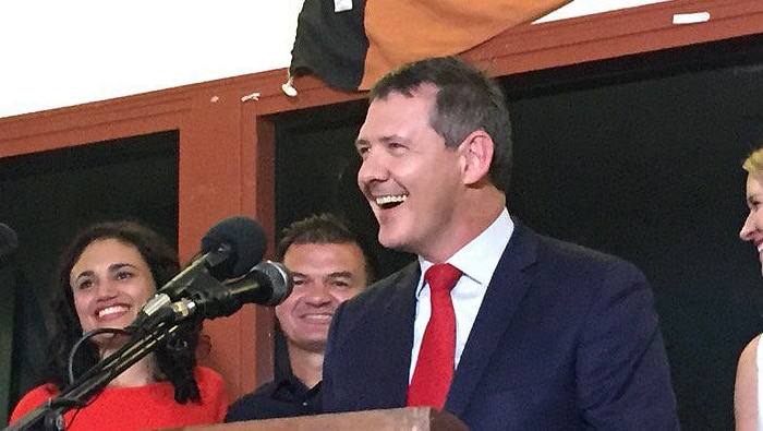 Michael Gunner claims victory