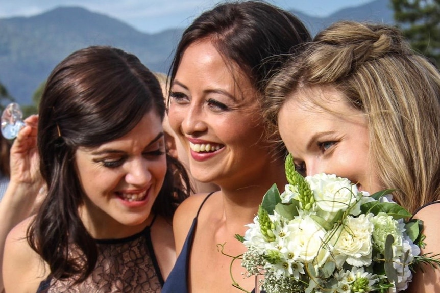 Kate Leaver and friends Ayla and Jemma remain good friends even though their friendship is remote