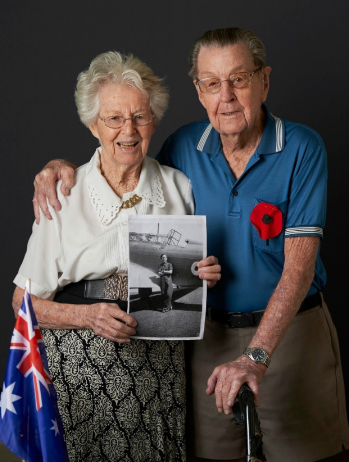 David and Helen Richards met during WWII.