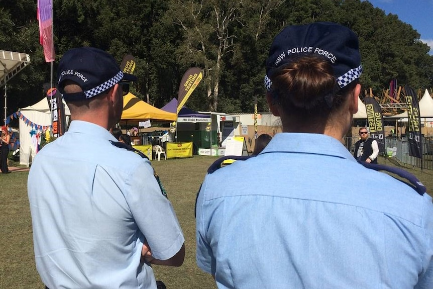 Two police officers at an event