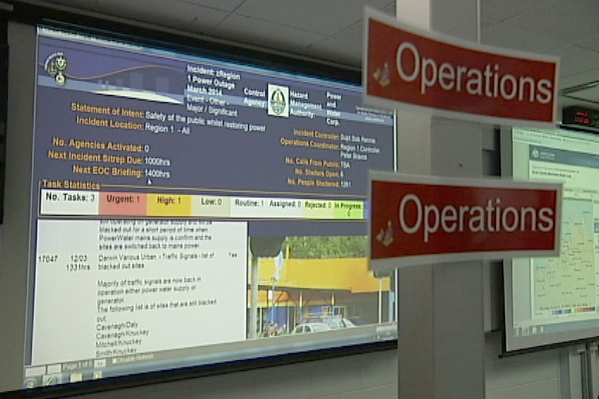 The critical incident management system at police headquarters in Darwin