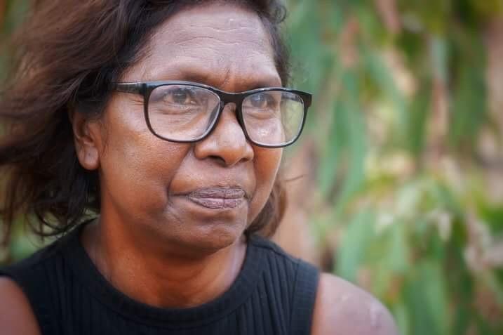 Aboriginal woman Merrikiyawuy Ganambarr-Stubbs looks hopeful.