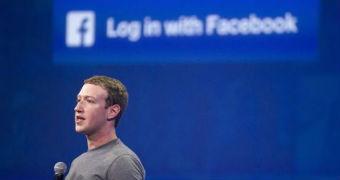 Mark Zuckerberg stands on a stage