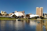 View of Adelaide across the Torrens river.