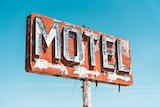 Disused motel sign