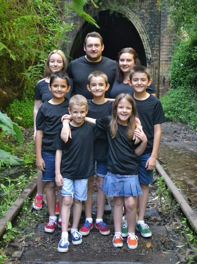 Lisa, Nathan and their six adopted children