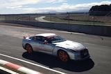 A Targa Tasmania competitor on the track at Symons Plains.