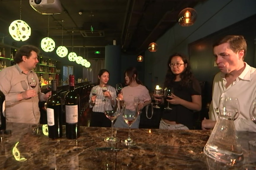 People wine-tasting in Beijing
