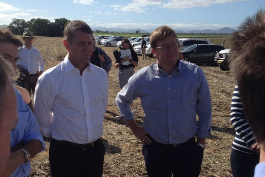 Mike Baird and Troy Grant at the Tamworth DPI