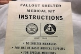 Front page of 1960 medical kit US manual