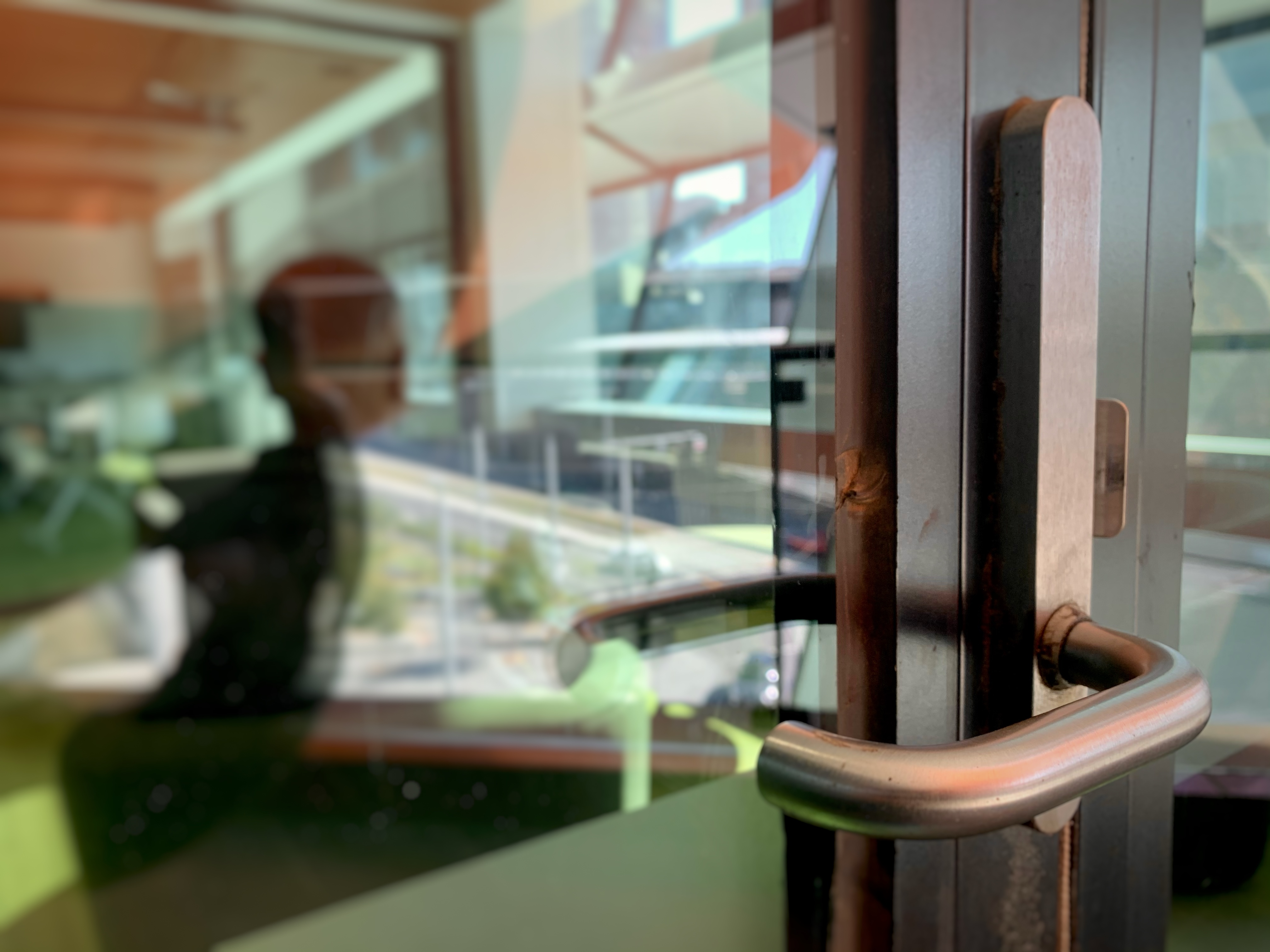 asylum seeker shadow in door