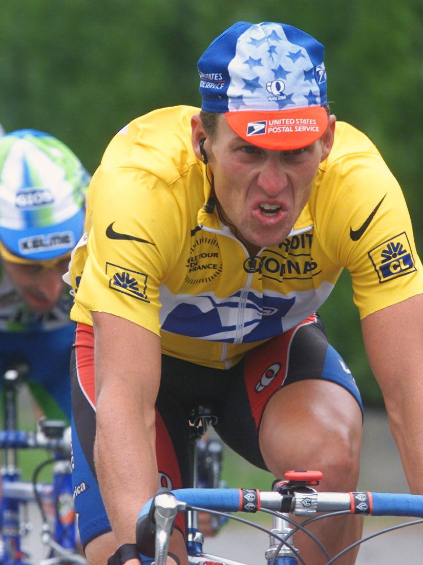 Lance Armstrong during the 16th stage of the 86th Tour de France between Lannemezan and Pau in the Pyrenees.