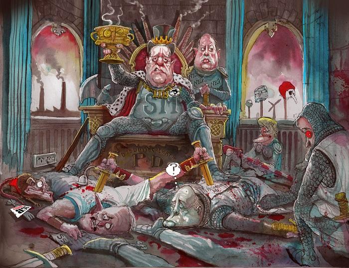 David Rowe cartoon on Liberal spill.