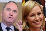 Composite of Barnaby Joyce, Larissa Waters, Matthew Canavan and Scott Ludlam