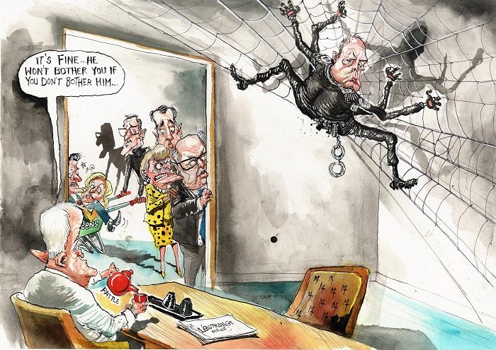 David Rowe cartoon on Peter Dutton.