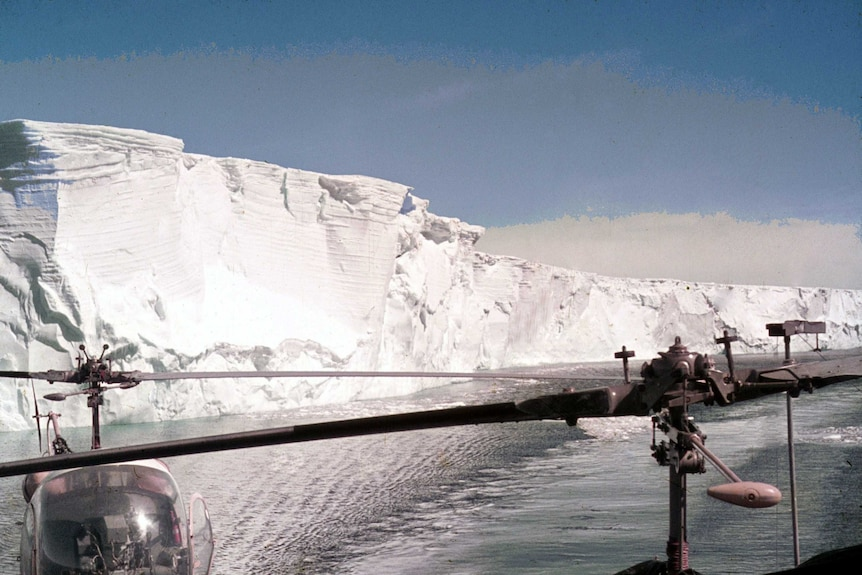 An iceberg longer than from Brisbane to Noosa and about half as wide in Antarctica, date unknown.
