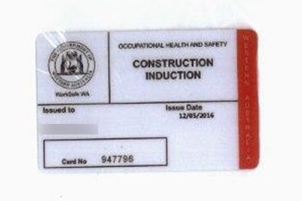 The Occupational Health and Safety card.