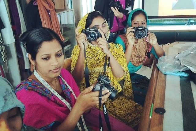 Lensational photographers in Bangladesh receive cameras and training.