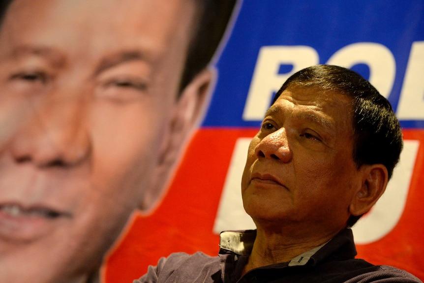 Davao mayor and Philippines presidential candidate Rodrigo Duterte