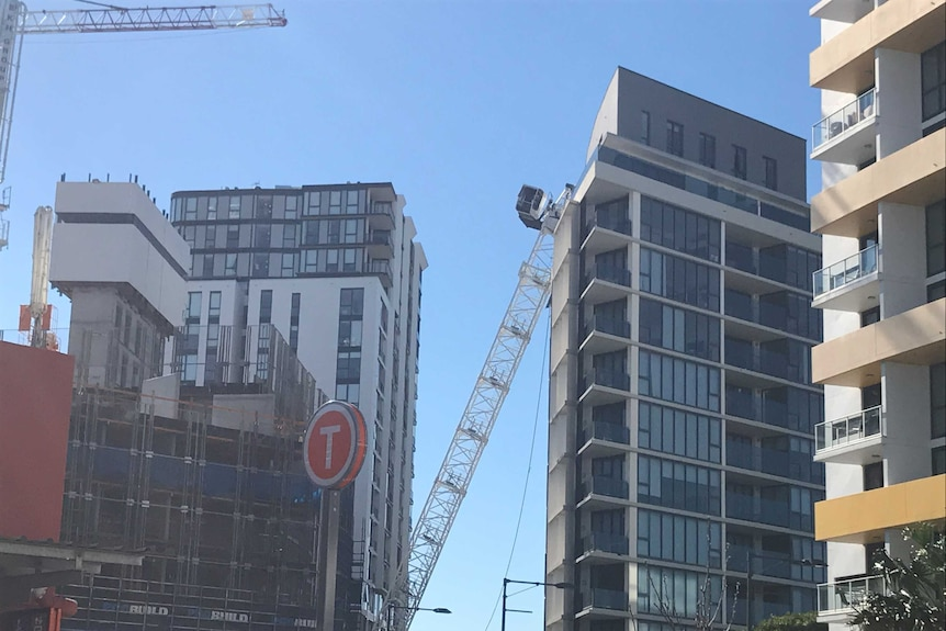 No-one was inside the crane at the time of its collapse.
