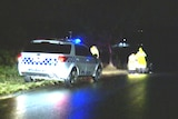 Police on the scene in Melbourne's north east where a woman was hit by lightning.