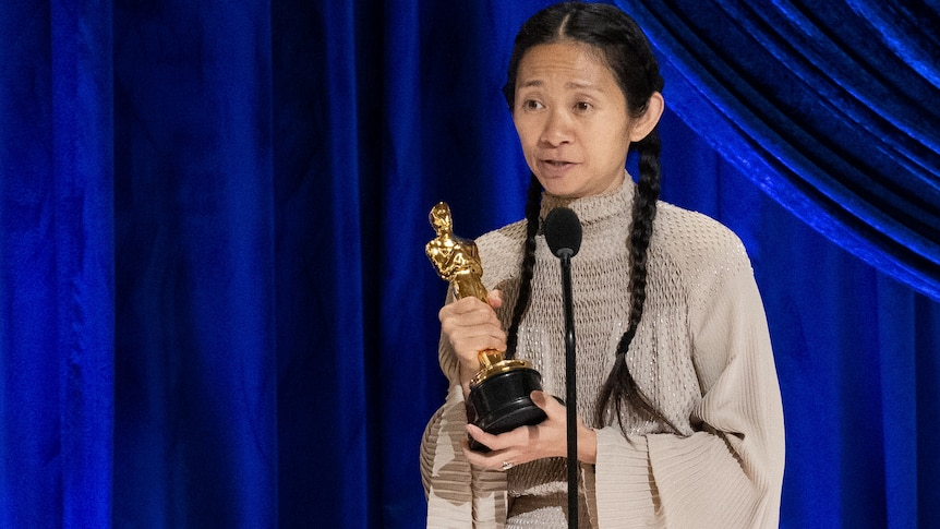 Chloe Zhao accepts Oscar for Best Director 2021