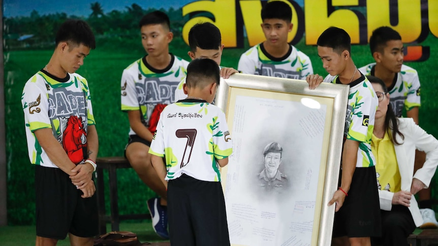 The youngest member of Thai soccer team expresses condolences to Navy SEAL's family