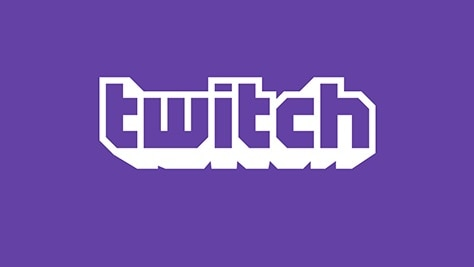 "A purple logo spelling the word ""twitch"" in stylised font."
