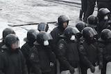 Police gather amid massive Ukraine protests