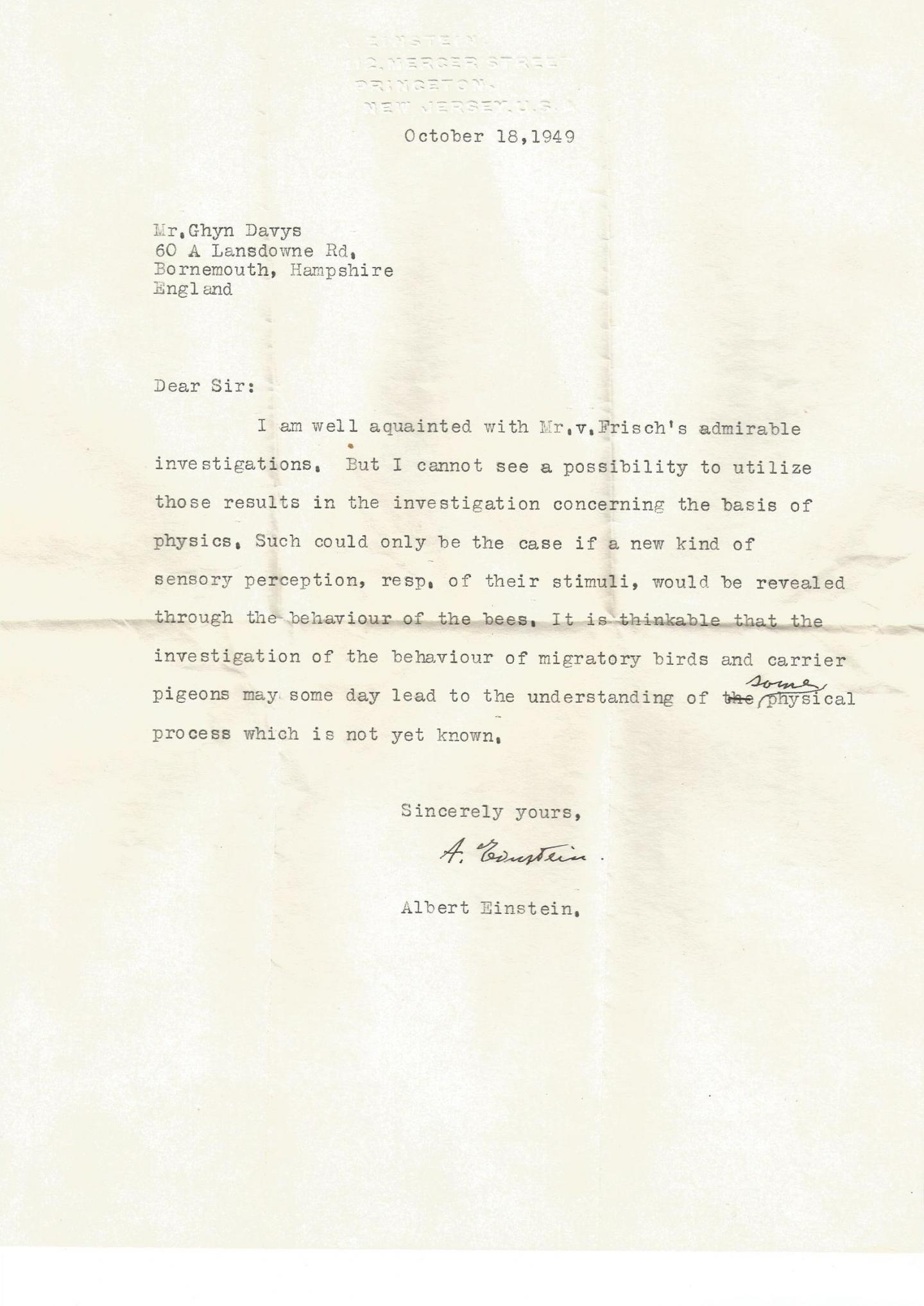 An old letter