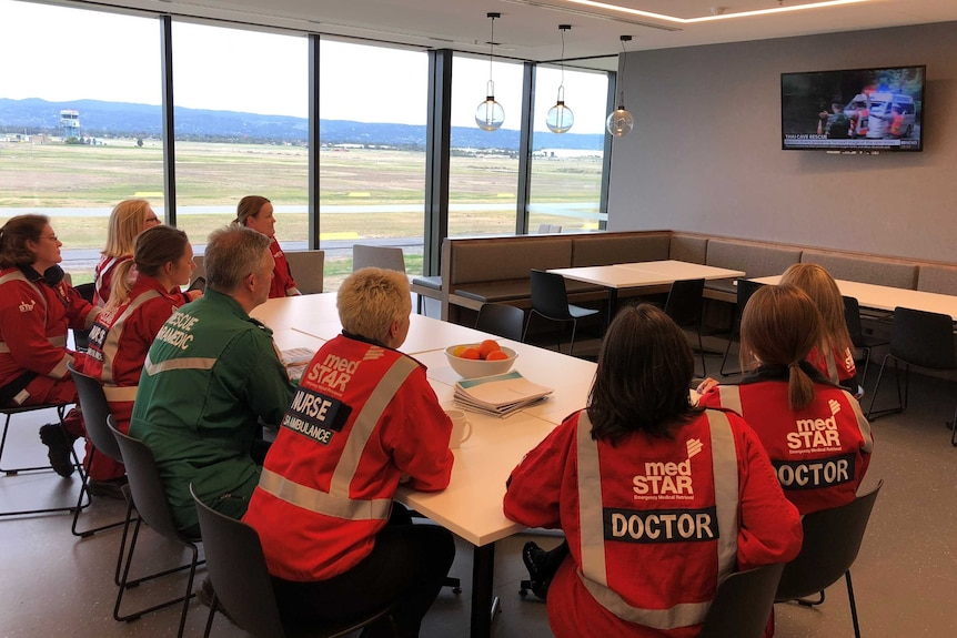 MedSTAR staff watch the Thai cave rescue