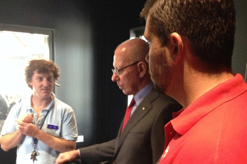 NSW Governor David Hurley visits the Tamworth Youth Centre.