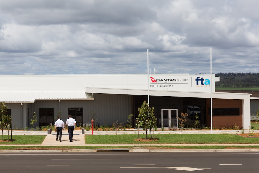 An office-like building at Toowoomba Wellcamp Airport.