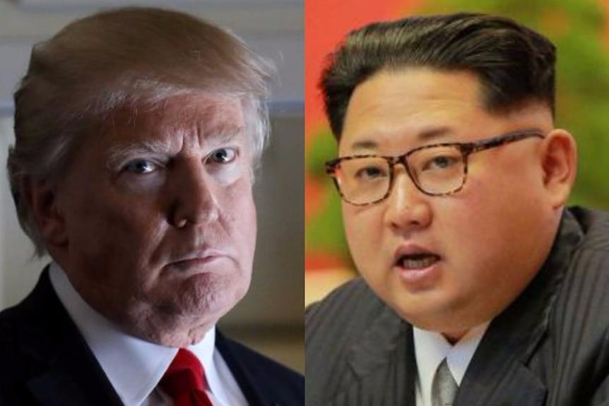 A composite image of Kim Jong Un and Donald Trump