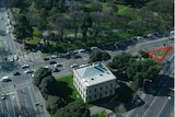Aerial of Royal Society of Victoria land