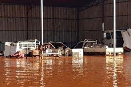 three utes flooded
