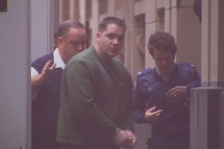 Gavin Perry enters the Victorian Supreme Court for his plea hearing ahead of sentencing.