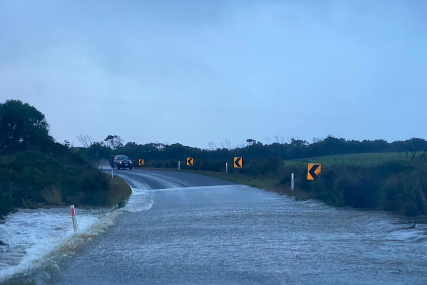 River over a road near Port Campbell