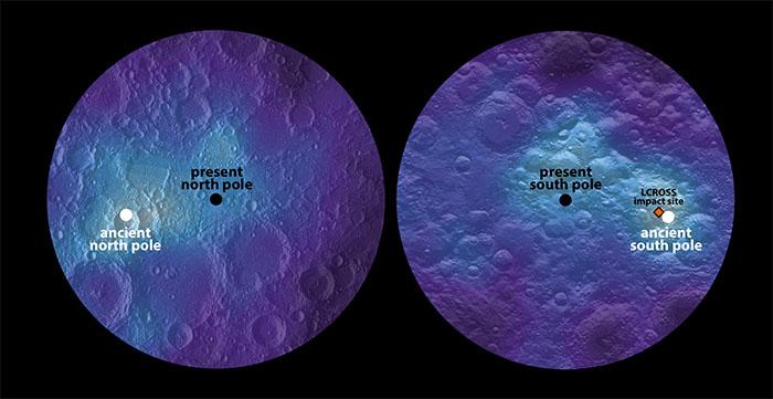 Maps of lunar hydrogen as measured by Lunar Prospector