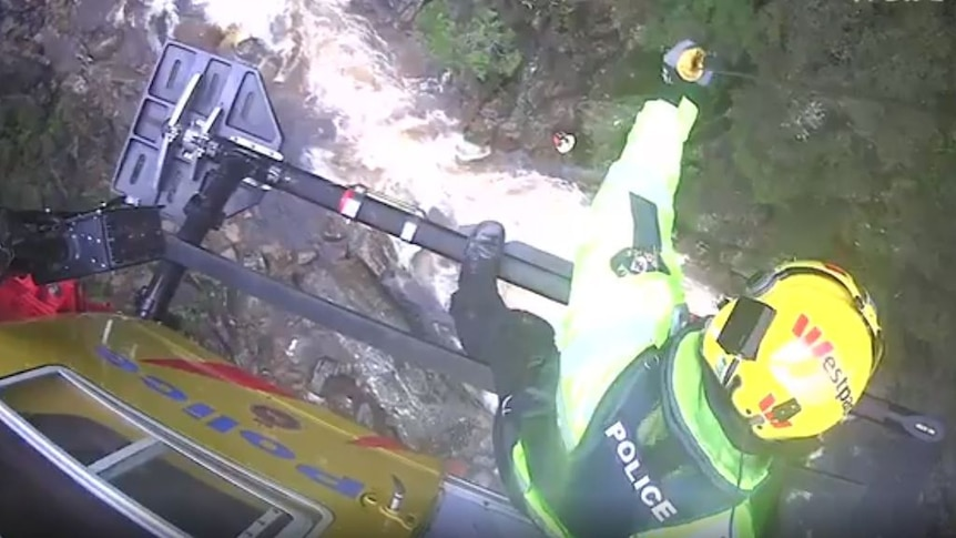 Helicopter rescue in Tasmania