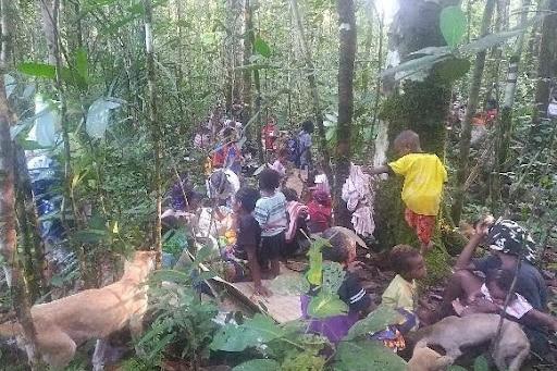 Pengungsi dari Kampung Imsun di Hutan 1
