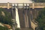 The Warragamba Dam, close to capacity due to heavy rainfall
