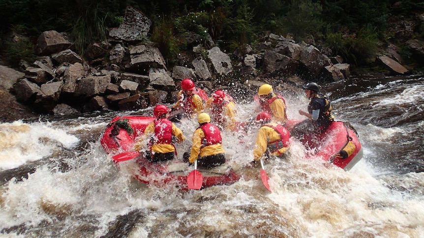 White water rafting on the King River