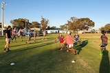 Community rugby team Silver City Scorpions day time training session