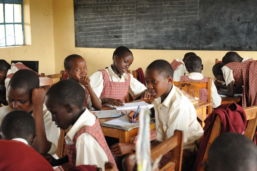 Students in class at the Kakenya Centre for Excellence
