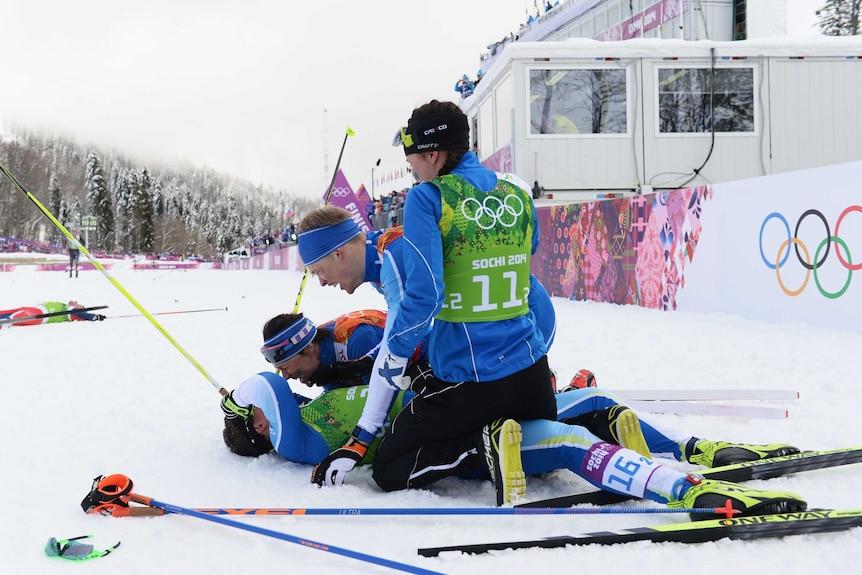 Finland celebrates men's team classic gold