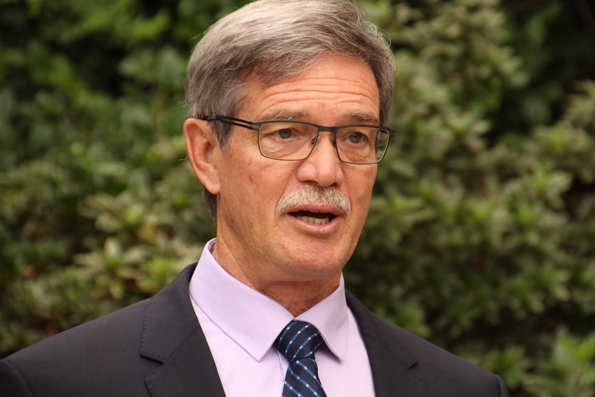 A tighgt head and shoulders shot of WA Opposition Leader Mike Nahan in Perth.
