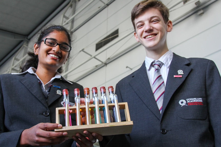 Students Shambhavi Mishra and Johannes Faller took part in the record attempt.
