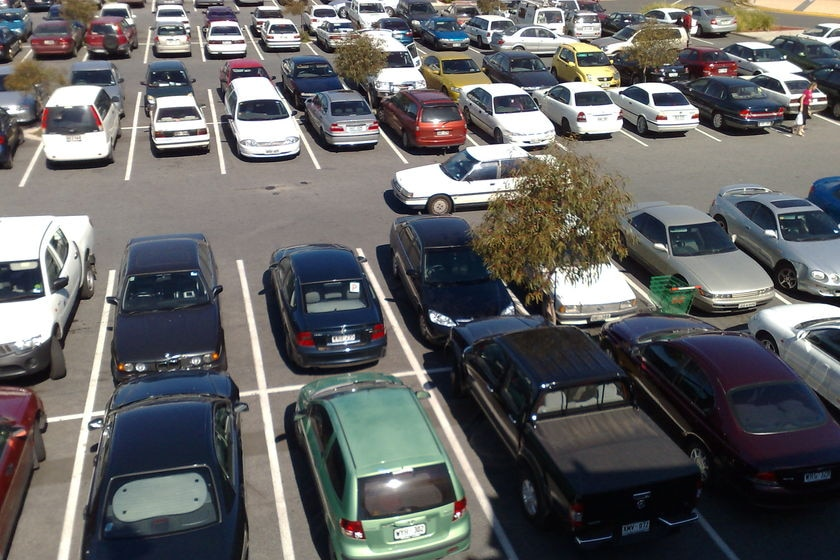 Pay to park at West Lakes Mall