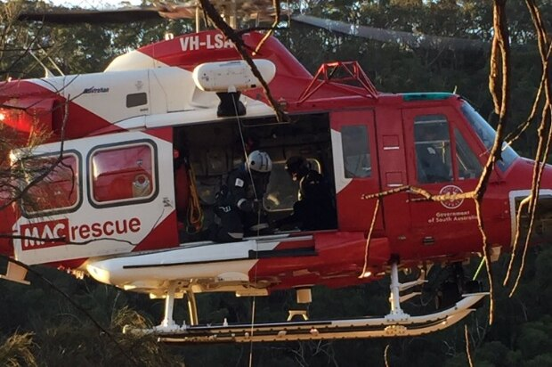 Cliff rescue at Morialta Conservation Park